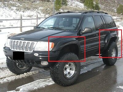 Jeep Grand Cherokee Wj 1999 - 2004 Wheel Arch - Fender Flares Extensions 6 Pcs