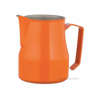 Motta Orange Professional Milk Frothing Pitcher 12 oz / .35 cl - Made in Italy