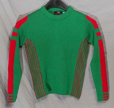 Vintage White Stag Ski Sweater Youth Small egm