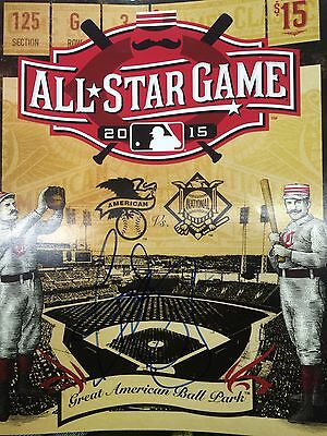 Todd Frazier Autographed 2015 All Star Game Program