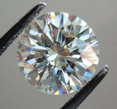 REAL MOISSANITE 1.02 ct VS1/6.70 mm BLUE WHITE COLOR ROUND CUT LOOSE TESTED