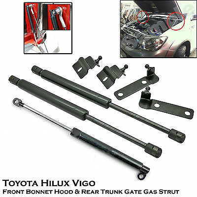 Front Bonnet + Rear Trunk Gas Shock Strut Damper Fit Toyota Hilux Vigo SR5 05-14