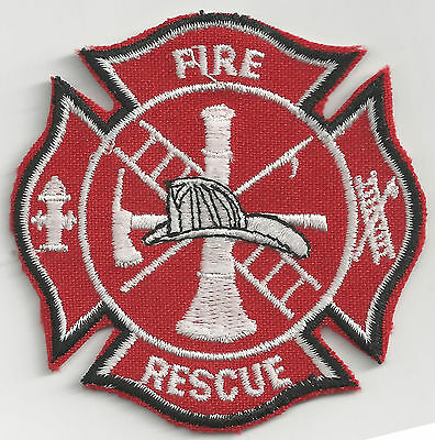 FIREMAN LOGO - IRON ON or SEW ON PATCH