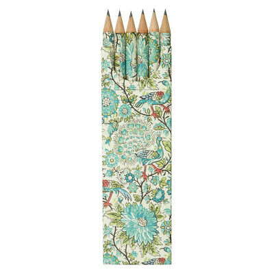NEW Tassotti Peacock Pencil Set of 6