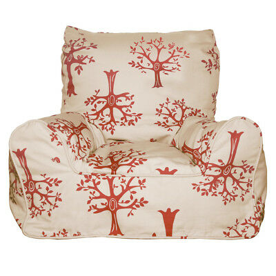 NEW Lelbys Red Orchard Bean Chair