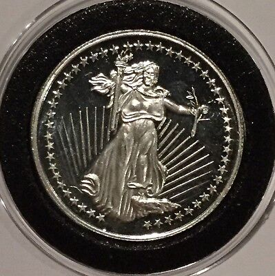 Standing Liberty Eagle 1/2 Troy Oz .999 Fine Silver Round Collectible Coin Medal