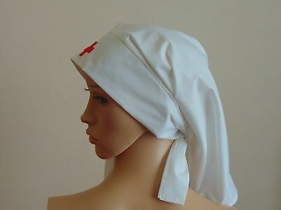 Ww1 Ww2 Nurse Hat Headgear Hat Veil Re-Enactment Quality Theater  Cotton