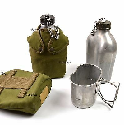 French France Army Drinking Flask Water Bottle Military Canteen pot pouch
