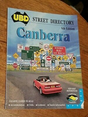UBD Canberra Street Directory 6th Edition 1995