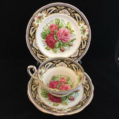 FOLEY BONE CHINA  FLORENCE cup saucer and plate VINTAGE
