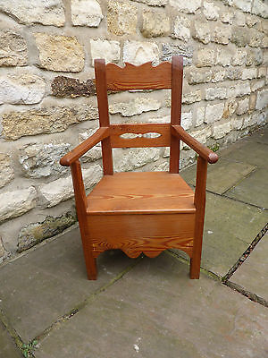 Vintage Childs Chair. Pitch Pine.