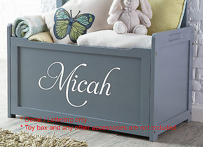 Custom Toy Box Decal Sticker Gloss Permanent Durable Vinyl