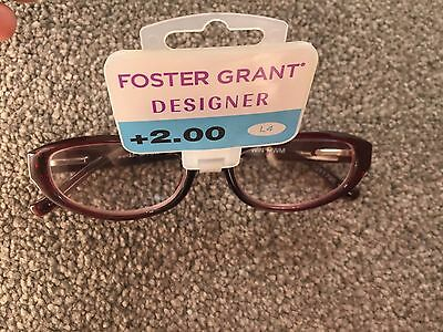 Buy One Get One Free Foster Grant Designer Womens Reading Glasses.+2.00
