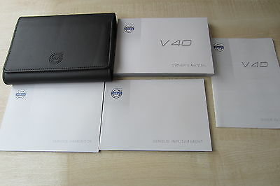 VOLVO V40 2012-2016 Owners Manual Handbook & EMPTY SERVICE BOOK w/ Wallet Pack