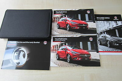 VAUXHALL CORSA E 2015-2016 Owners Manual Handbook & EMPTY SERVICE BOOK w/ Wallet