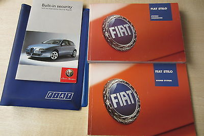 FIAT STILO 2004 2005 2006 Owners Manual Handbook & Sound System with Wallet Pack