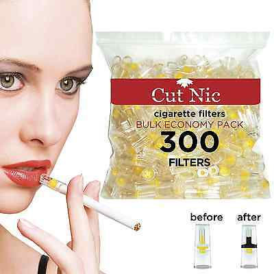NEW Cut-Nic Disposable Cigarette Filters - Bulk Economy Pack 300 Per Pack
