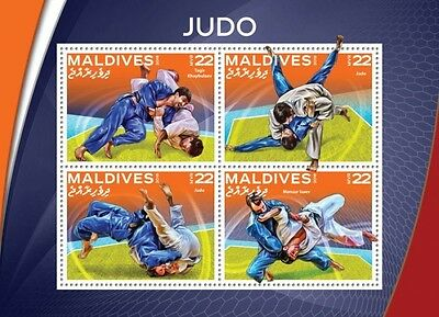 Z08 IMPERFORATED MLD16509a MALDIVES 2016 Judo MNH