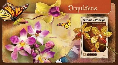 Z08 IMPERFORATED ST16403b Sao Tome and Principe 2016 Orchids MNH