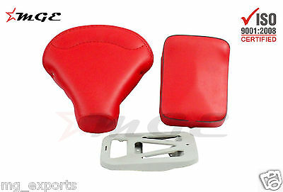 Vespa VBB VBA VNB 125 150 Front + Rear Seat + Plate HIGH QUALITY RED #SE020