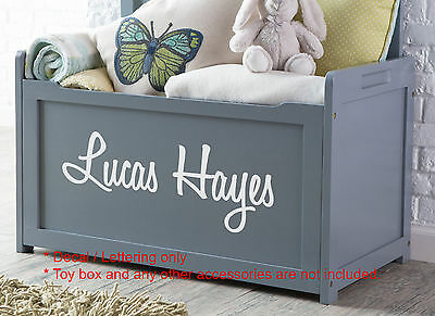 Two Names Custom Toy Box Decal Sticker Gloss Permanent Durable Vinyl