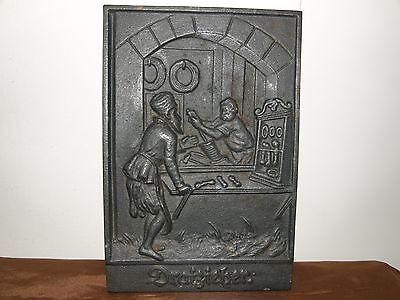 Antique Cast Iron Wall Decoration Of A Rope Maker