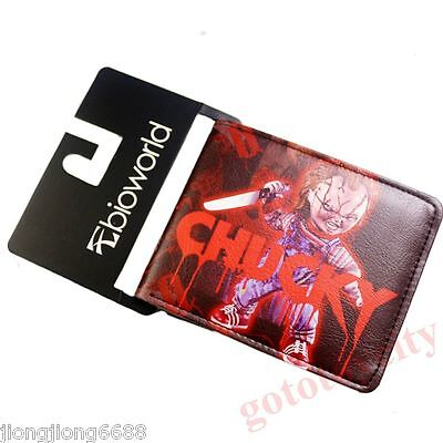 Bride of Chucky The Scary Bifold Leather Purse Wallet New hot 12
