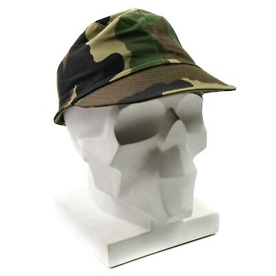 Genuine French France army combat cap. Military field combat peaked cap camo
