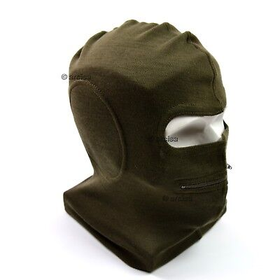 Genuine Italy italian army face mask balaclava two hole mask with zip new