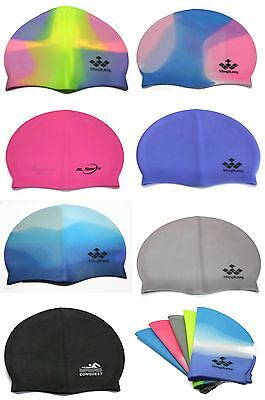 Swimming Pool Cap Unisex Silicone Swim Hat One Size Fits All Waterproof Shower