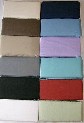 """21 """" Bed Skirt Ruffle 12 Colors all Sizes Split Corners see  matching Shams"""