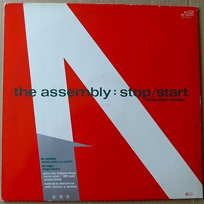 "12"" The Assembly - Never Never (Extended Version) - Multicolored Vinyl - VG++"