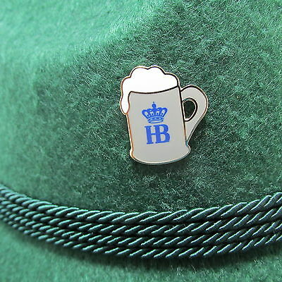 HB Beer Stein with  Gold Trim Oktoberfest Hat Pin