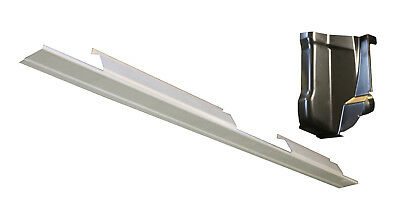 For 2001-2003 Ford F150 Pickup Crew Cab Outer Rocker Panels Pair NEW