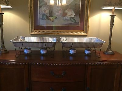Buffet Chafer Food Warmer Wire Rack w/Pan 2/$22or 4/$40 Plus Sureheat Sterno