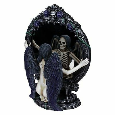 Fates Reflection Gothic Angel Mirrored Figurine By Nemesis Now