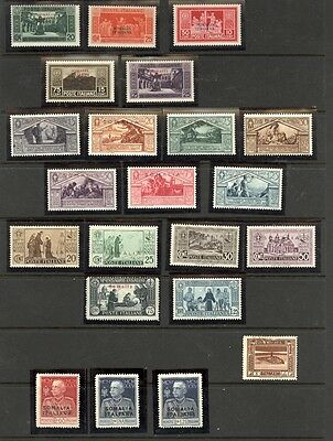 Somalia  Collection between Scott 67/138 Mint Lightly Hinged in Mounts. CLEAN