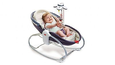NEW TINY LOVE cozy ROCKER NAPPER GREY DEMIN PLAY BASSINET GIFT BABY