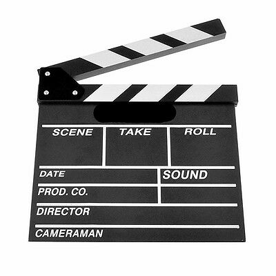 Acrylic Clap Clapper Clapperboard Board Film Movie Action Scene Slate Dry Erase