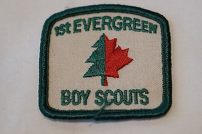 Canadian 1st Evergreen Boy Scout Patch