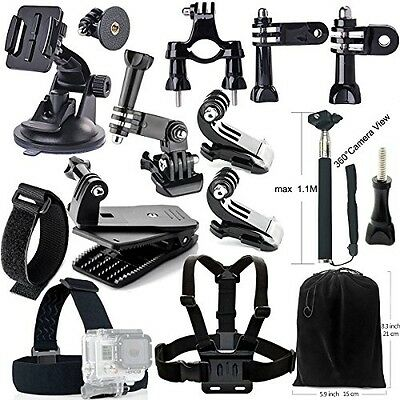 Iextreme Accessory Kit 15-in-1 Accessories Bundle For GoPro Hero4/3/2/1, SJCAM