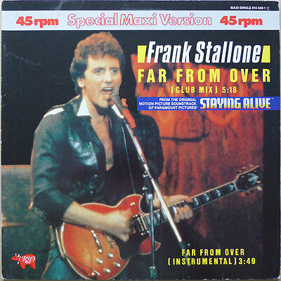 "12"" Frank Stallone - Far From Over - DE 1983 -  NM"