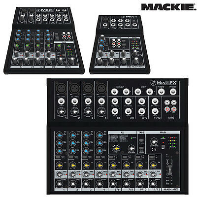 Mackie Mix 5 8 12FX Effects 5 8 12 Channel Compact Mixer NEW l Authorized Dealer