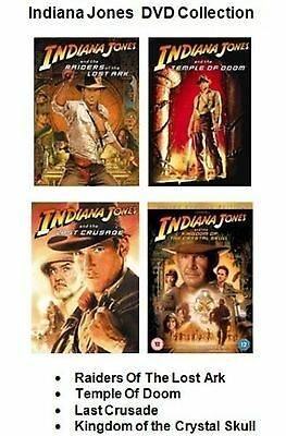 INDIANA JONES COMPLETE COLLECTION SET ALL 4 MOVIE FILM Part 1 2 3 4 Sealed