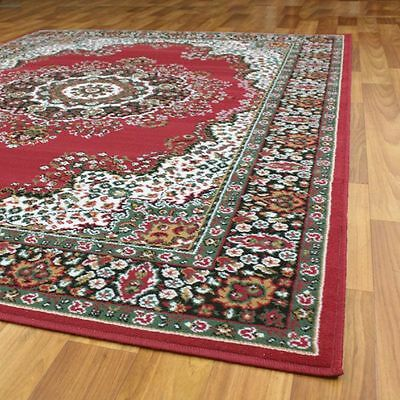 New Floor Rug Traditional Persian Design Red 230X160Cm Free Shipping*