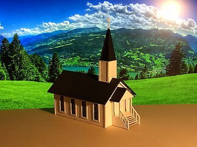 S Scale Country Church Kit