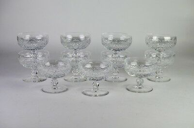 Set of 11 Waterford Champagne Tall Sherbet in Colleen-Short Stem (Cut)