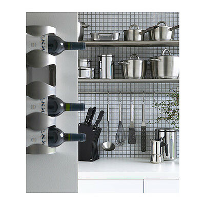 ikea alcohol rack stainless steel 4 bottle wine rack holder wall hanging storage