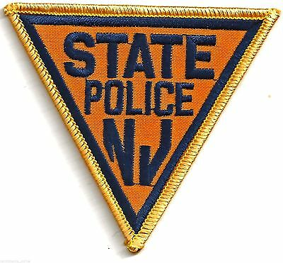 STATE POLICE NEW JERSEY - CREST IRON or SEW ON PATCH