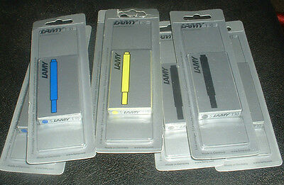 Lamy Ink Cartridges X 35 Green--Black---Blue Brand New Sealed